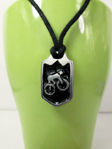 mountain biker necklace