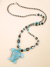 Load image into Gallery viewer, turquoise turtle necklace