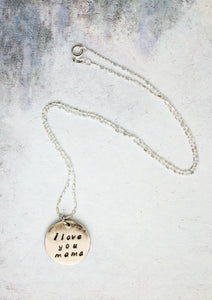 I love you mama pendant