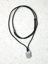 Load image into Gallery viewer, adjustable black cord necklace
