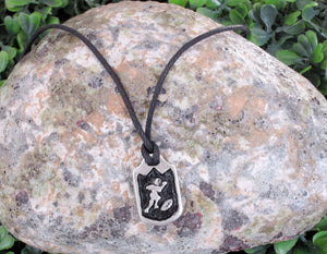 football player necklace
