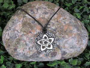 flower pentagram pendant necklace