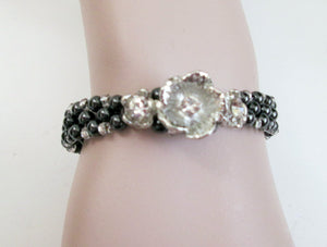 magnetic flower bracelet