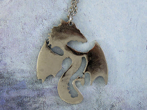 back view of Fan Dragon pendant