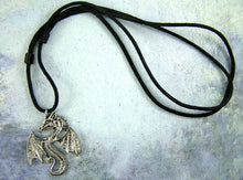 Load image into Gallery viewer, Celtic Fan Dragon necklace