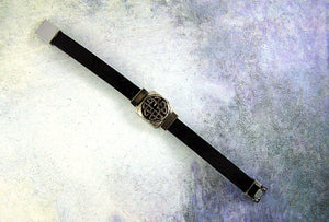 magnetic clasp leather bracelet