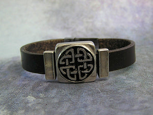love knot leather bracelet