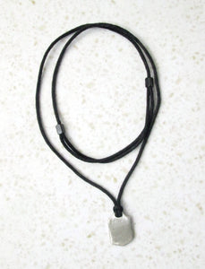 unisex adjustable cotton cord necklace