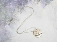 Load image into Gallery viewer, Hand-stamped You are my sunshine necklace