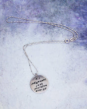 Load image into Gallery viewer, hand stamped message pendant