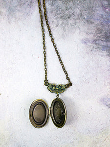 inside view of small oval locket
