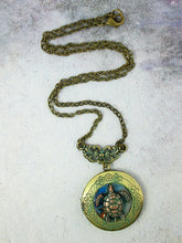 Load image into Gallery viewer, turtle locket necklace