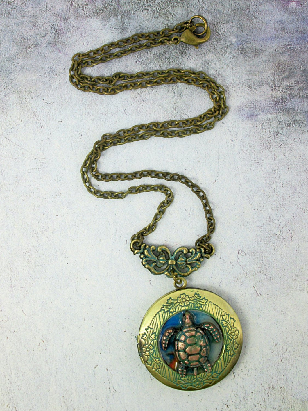 turtle locket necklace