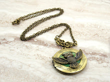 Load image into Gallery viewer, owl locket pendant necklace