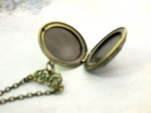 inside view of locket necklace
