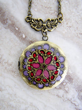 Load image into Gallery viewer, red and purple fancy wedding locket