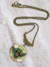Load image into Gallery viewer, steampunk owl locket pendant