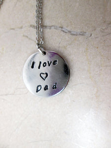 I love dad necklace