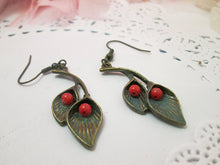 Load image into Gallery viewer, lily flower earrings