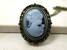 Load image into Gallery viewer, cameo watch necklace
