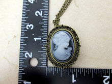 Load image into Gallery viewer, cameo watch necklace measurement view