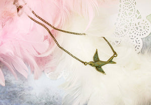 small sparrow necklace