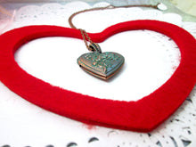 Load image into Gallery viewer, love heart rose locket necklace
