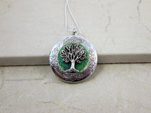 Load image into Gallery viewer, tree of life locket necklace
