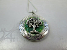 Load image into Gallery viewer, tree of life locket pendant necklace