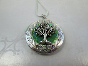 tree of life locket pendant necklace