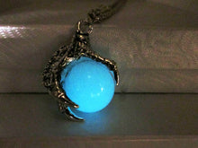 Load image into Gallery viewer, glow in the dark dragon claw pendant