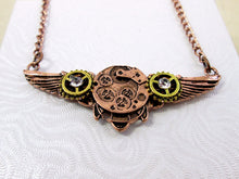 Load image into Gallery viewer, watch gear angel wing necklace