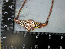 Load image into Gallery viewer, steampunk angel wing necklace