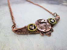 Load image into Gallery viewer, watch gear angel wing pendant