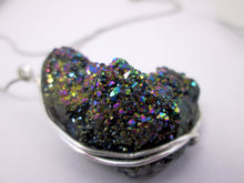 Load image into Gallery viewer, rainbow titanium druzy crystal pendant