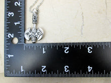 Load image into Gallery viewer, axe necklace and measurement