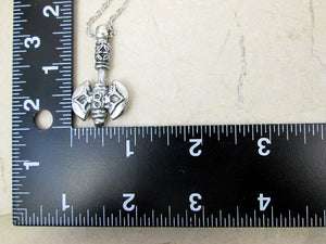axe necklace and measurement