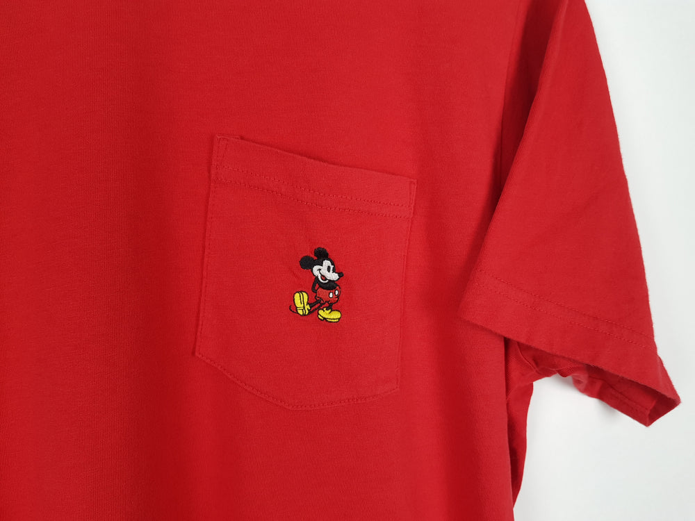 Embroidered Mickey Mouse T-Shirt (L)