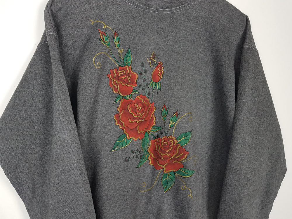 Butterfly and Roses Sweater (S)