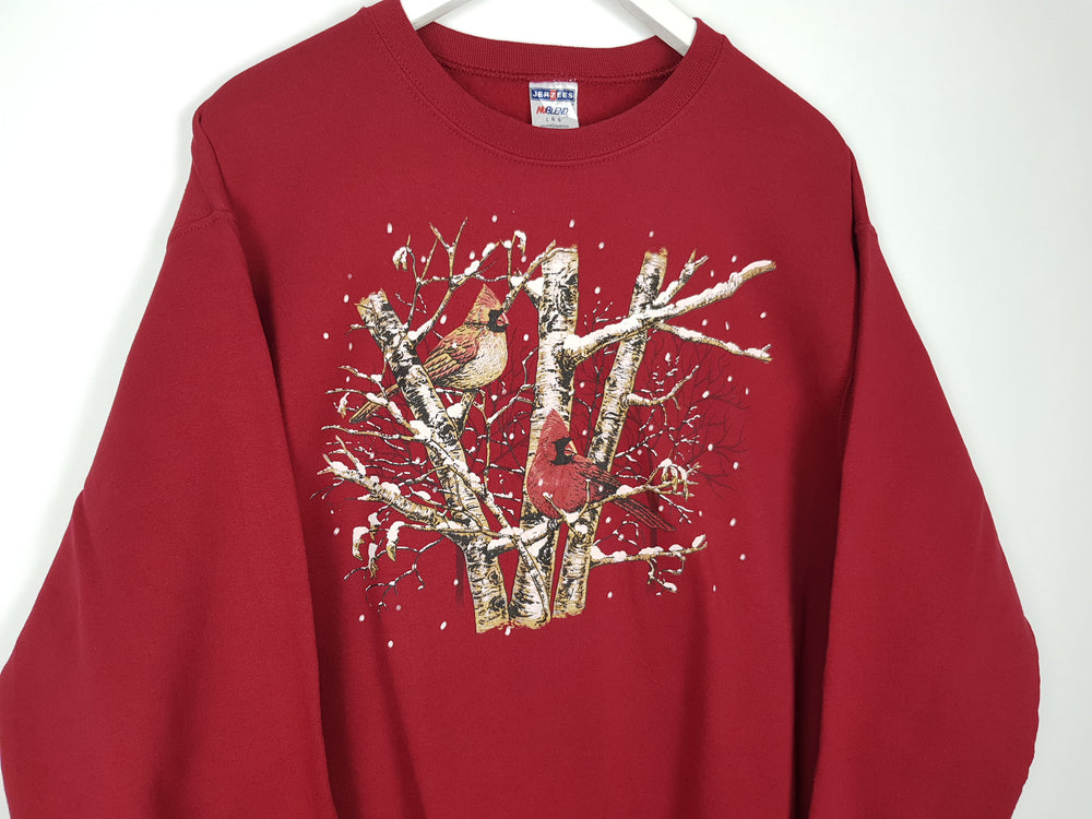 Cardinal Birds Sweater (L)