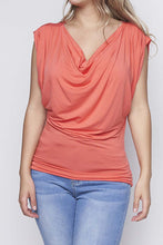 Load image into Gallery viewer, Sleeveless Cowl Neck Tops