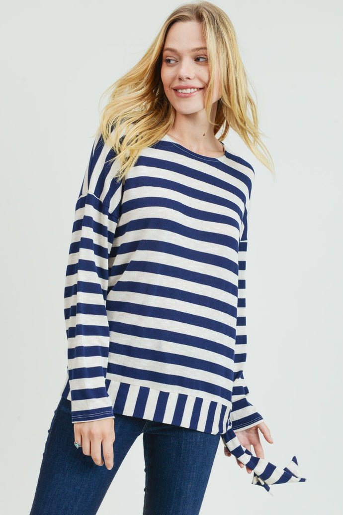 Stripe Side Tie Top