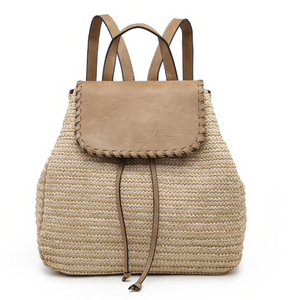 Straw Texture Backpack