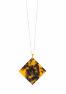 Square Disc Tortoise Necklace