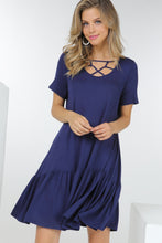 Load image into Gallery viewer, Solid Criss-Cross Tiered Dresses