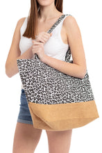 Load image into Gallery viewer, Black Leopard Tote Bag