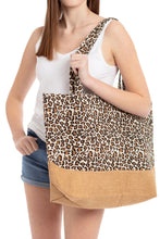 Load image into Gallery viewer, Brown Leopard Tote Bag