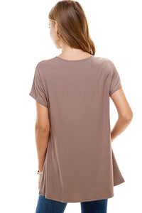 Solid Tunic Tops