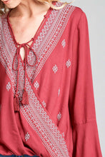 Load image into Gallery viewer, Tie Tassel Wrap Top