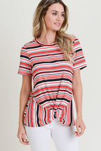 Load image into Gallery viewer, Front Knot Stripe Shirt